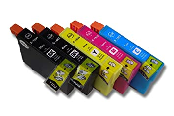 5X Cartuchos de Tinta VHBW Set para Impresora Epson ...