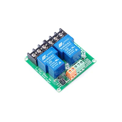 KNACRO 2-Channel 5V Relay Module High Low Level Triggering Optocoupler Isolation Load 30A DC 30V AC 250V for PLC Automation Control, Industrial System Control, Arduino: Home Audio & Theater