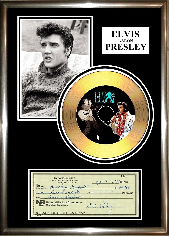 gold disc frames Elvis Signed Disque dor 74