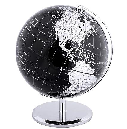 19e0224cd3 Amazon.com  Exerz Metallic World Globe (Dia 12-Inch   30cm) Black ...