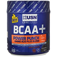 USN BCAA Power Punch Amino Acid Plus Blend, Blue Raspberry, 400 g