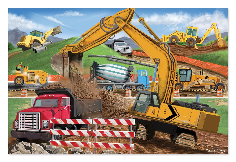 Melissa & Doug Building Site Jumbo Jigsaw Floor Puzzle (48 pcs, 2 x 3 feet long) 8900