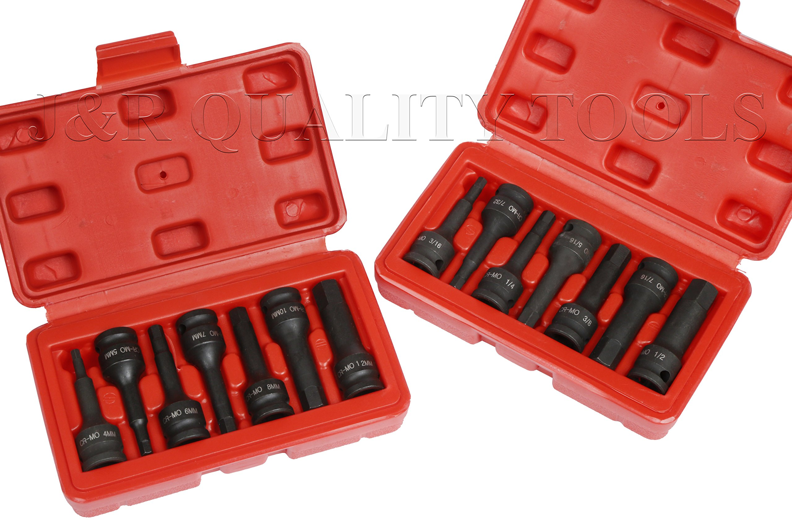 3/8'' DR HEX ALLEN DRIVER IMPACT SOCKET SET + FREE SET! by vector tools