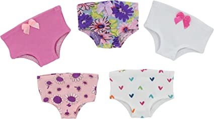 PZAS Toys 18 Inch Doll Clothes Fits American Gi... 5 Piece Doll Underwear Set