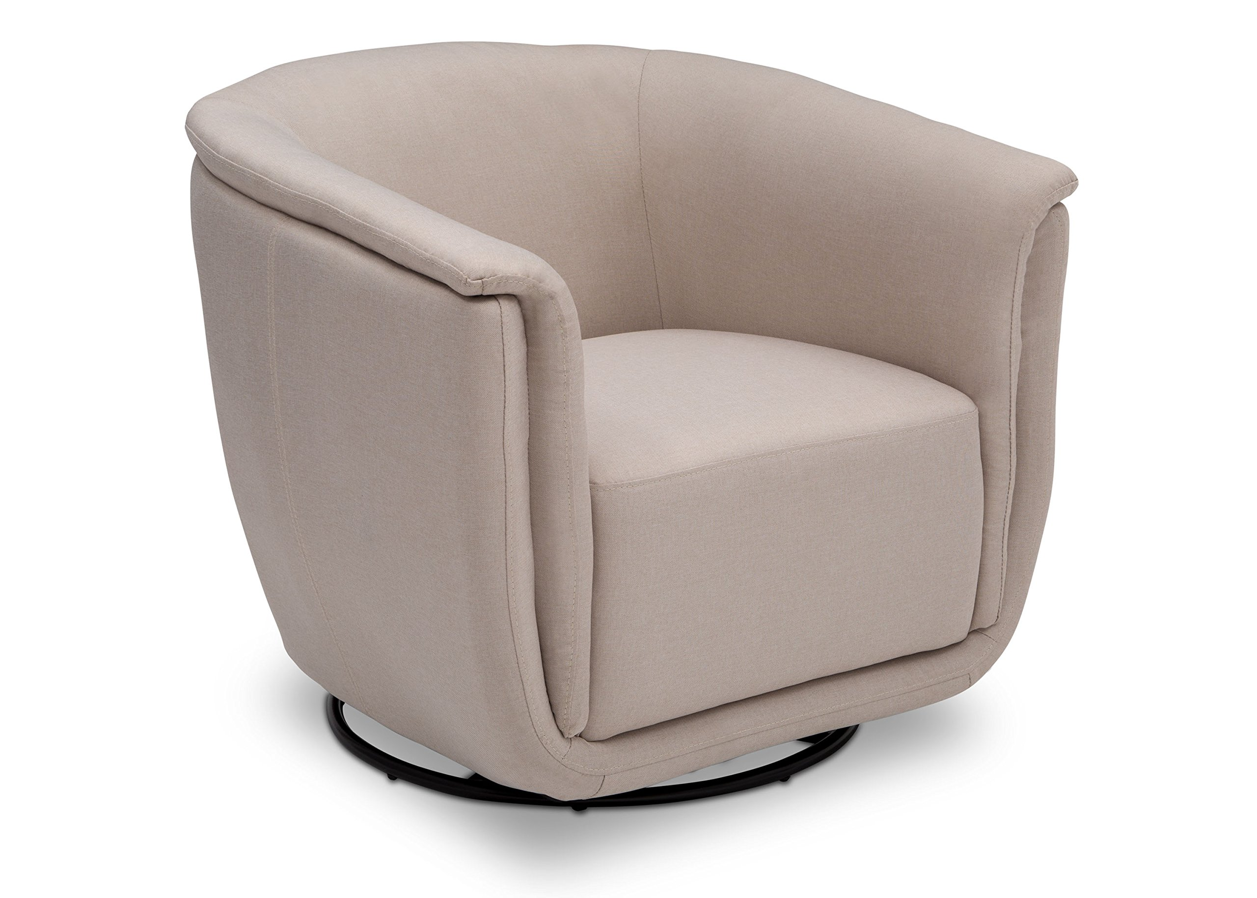 Delta Children Skylar Nursery Glider Swivel Rocker Tub Chair, Flax