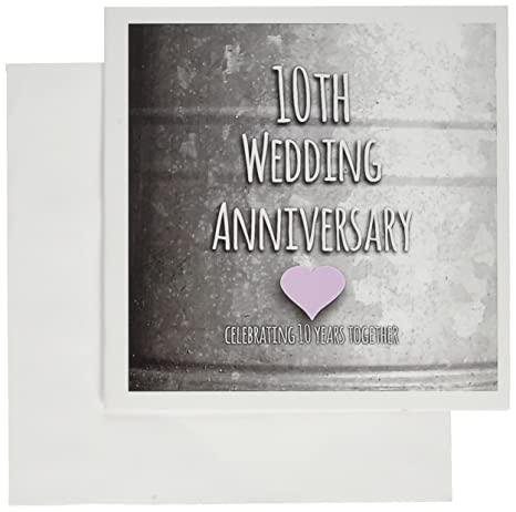 Amazon 3drose 10th wedding anniversary gift tin celebrating 3drose 10th wedding anniversary gift tin celebrating 10 years together greeting cards 6 m4hsunfo