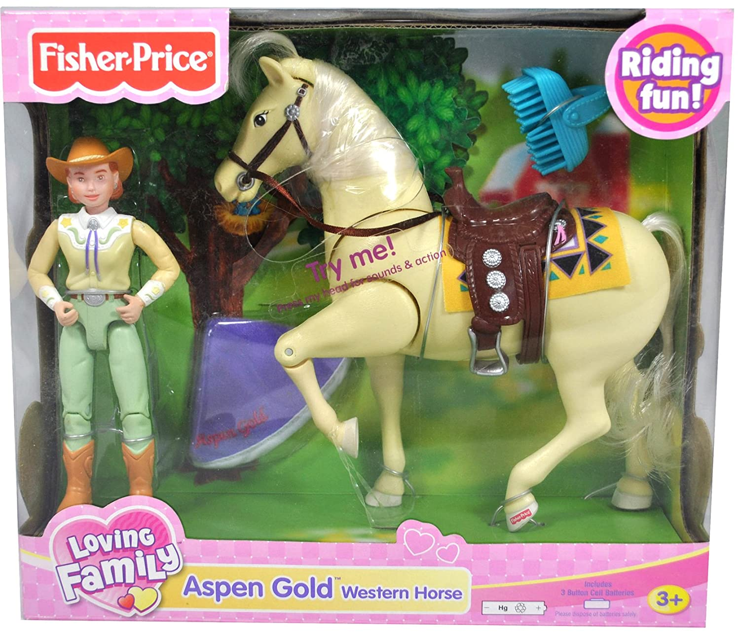 Fisher Price Loving Family Western Horse - Aspen Gold by Fisher-Price