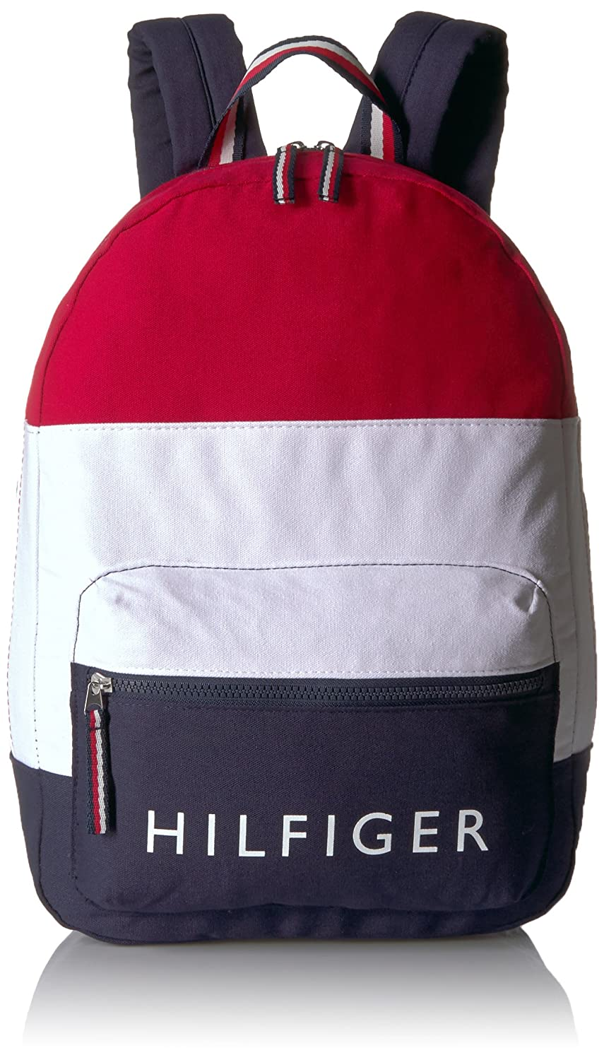 Tommy Hilfiger Women's Backpack Patriot Colorblock Canvas, Navy/Red/White 6943967