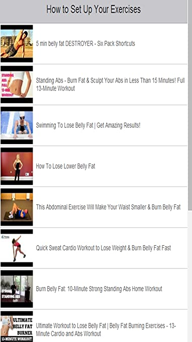 Amazon Com Exercises To Lose Belly Fat Fast Appstore For Android