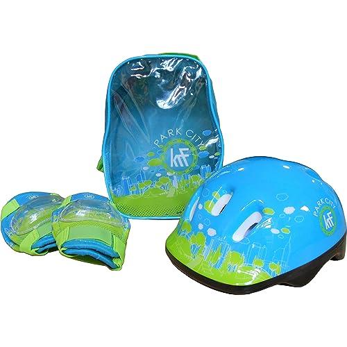 KRF Park City Set de Protection Garçon, Bleu