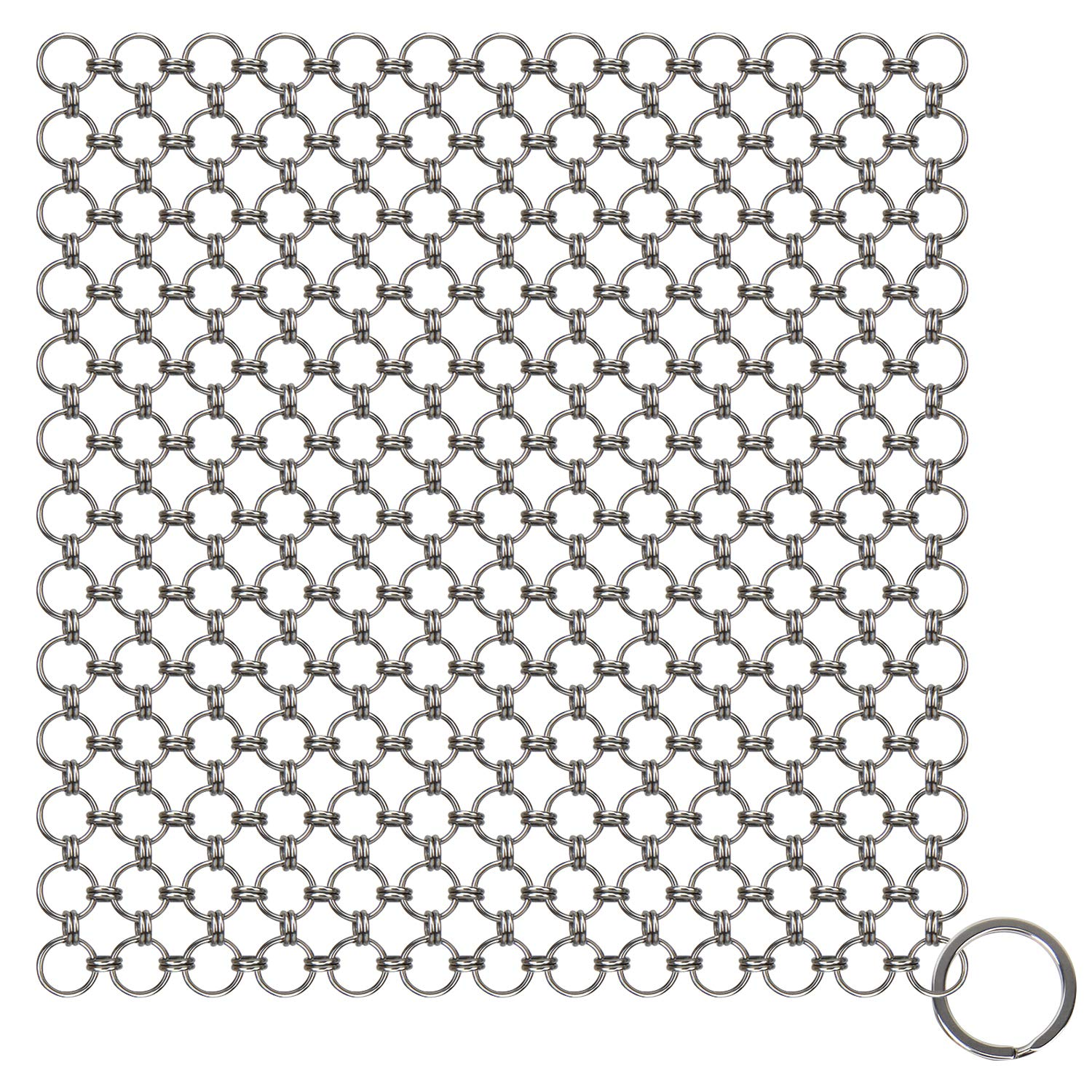 Blisstime Cast Iron Cleaner Premium Stainless Steel Chainmail Scrubber