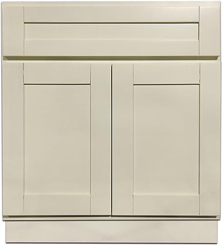 27 Vanity Cabinet Creme White