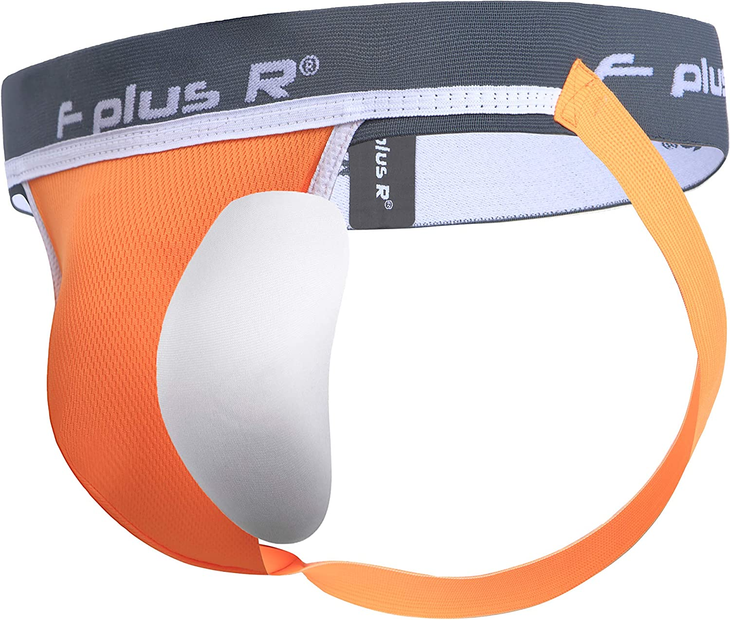 F plus R Men's Athletic Supporter Jockstrap with Cup Pocket 2 Inch Waistband