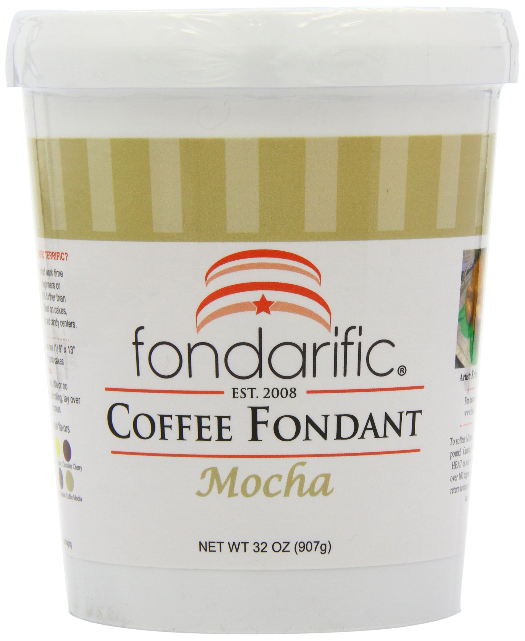 Fondarific Coffee Mocha Fondant, 2-Pounds by Fondarific