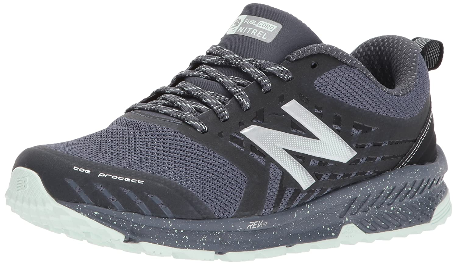 New Balance Women's Nitrel v1 FuelCore Trail Running Shoe B01NBOD07S 5.5 D US|Grey/Black