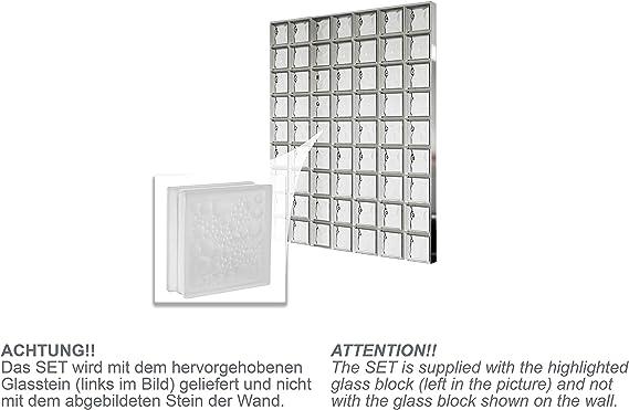 Bloques de vidrio mamparas de ducha JUEGO COMPLETO 171,5x220,5 cm ...