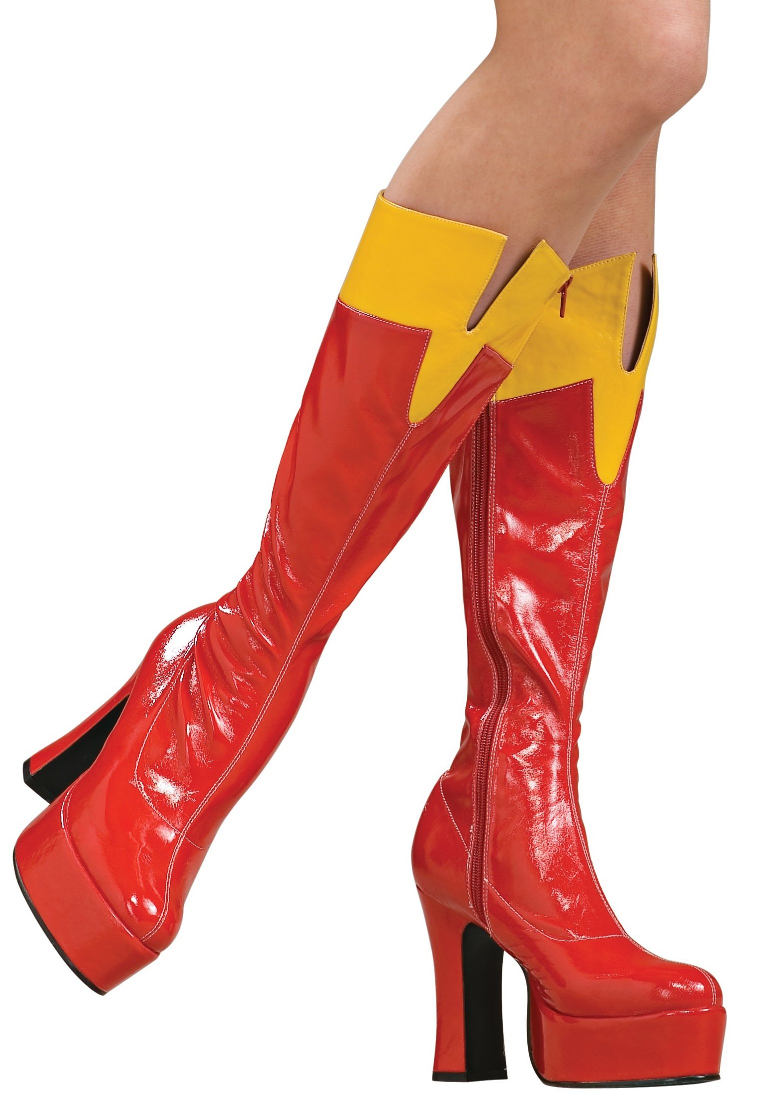 Secret Wishes Supergirl Officially Licensed Boots, Red, Medium