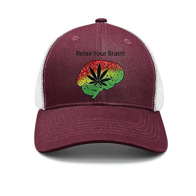Mesh Cannabis Cure Relax Your Brain Unisex Custom Cap Trucker Hat at ... 68f8f5d37de