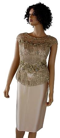 Womens Business Suit Gold Dress Suits Skirt Suit Set Business