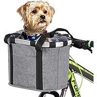 Bike Pannier, Andoer Cesto removível para bicicleta Frente para bicicleta Bolsa de lona para animais de estimação Cesta…
