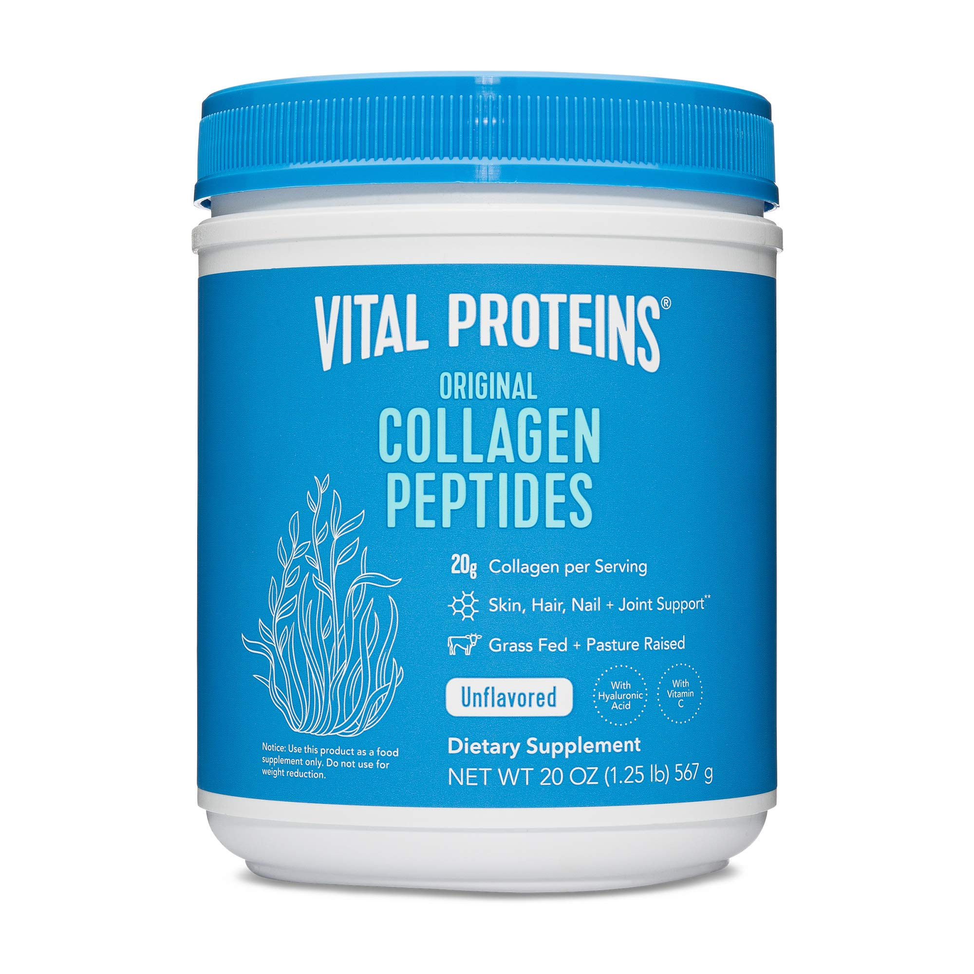 Vital Proteins Collagen Peptides Powder - Pasture Raised, Grass Fed, unflavored 20 oz