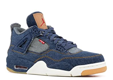 Air Jordan 4 Retro Levis Denim Sail Game Red Chaussures de Basketball Homme