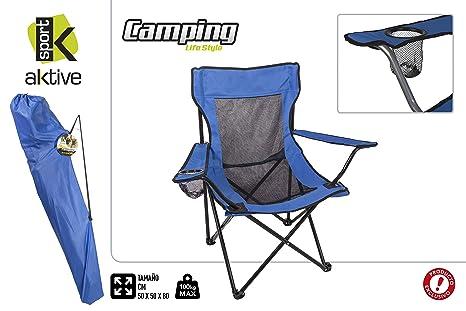 Aktive 52813 Silla Plegable Camping Sport, 50 x 50 x 80 cm ...