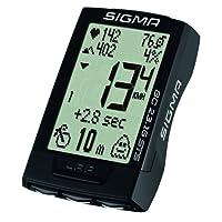 Sigma Sport Fahrrad Computer BC 23.16 STS, 23 Funktionen, Ghost-Race, Kabelloser Fahrradtacho, Trittfrequenz- und Pulsmessung, Schwarz
