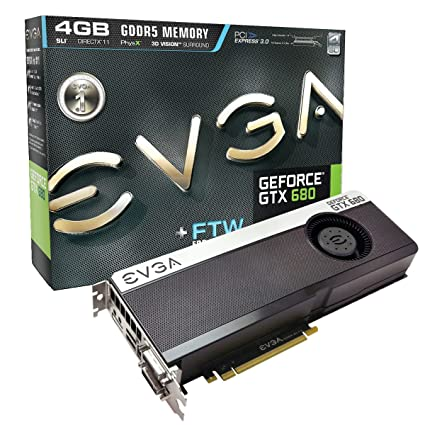 amazon com evga geforce gtx 680 ftw 4096mb gddr5 dvi dvi d hdmi rh amazon com evga gtx 680 4gb specs evga gtx 680 classified drivers