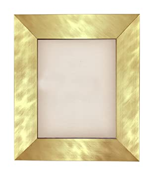 Amazoncom Brushed Gold Metal Finish Wood Picture Frame Size 4x6