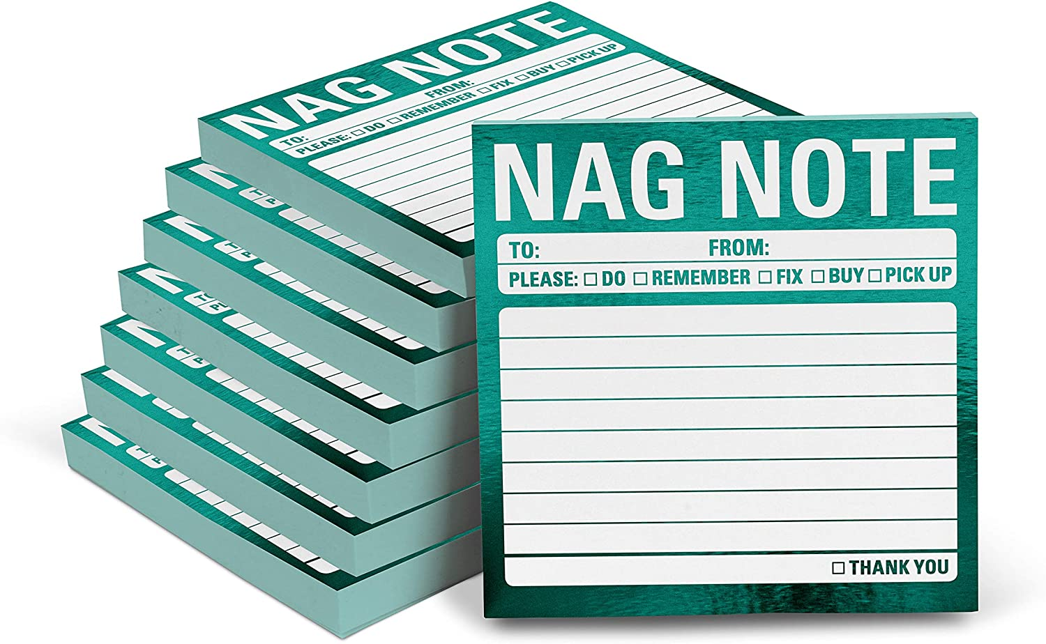 Knock Knock Nag Note Metallic Sticky Notes, 3 x 3-Inches (8-Count)