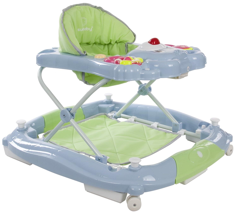 Sun Baby Rocker Bear - Andador para bebé, color azul y verde HESS SunBabyB01.010.1.1