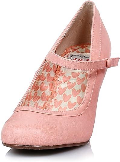 Inch Retro Mary Jane Heel (Peach