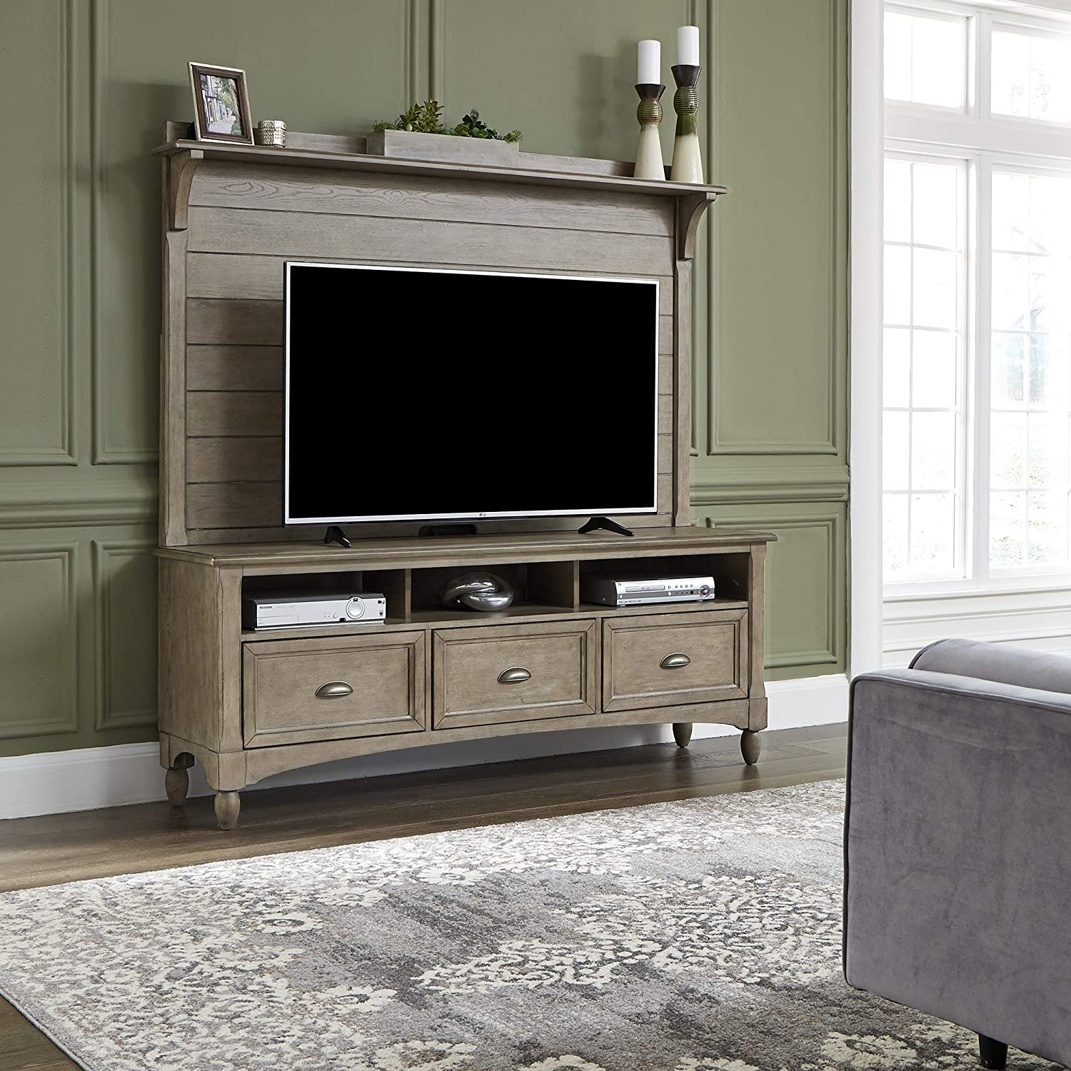 Liberty Furniture Industries Lakeside Entertainment Center, Taupe