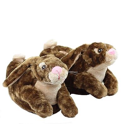 Sleeper z - Lapin - Chaussons animaux peluche - Enfant - Cadeau original -  Pointure eb99168f949