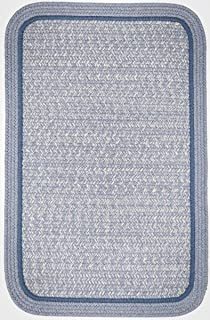 product image for Rhody Rug CC98R084X108S 7 x 9 ft. Casual Comfort Sunrise Blue Banded Braided Rug44; Rectangle