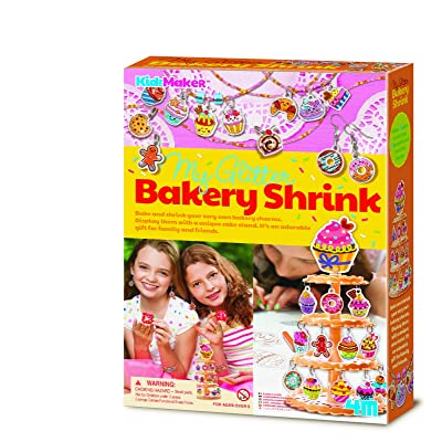 4M Kidzmaker My Glitter Bakery Shrink Kit: Toys & Games