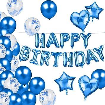 Aookey Decoración de cumpleaños, Globos de látex Rellenos de ...