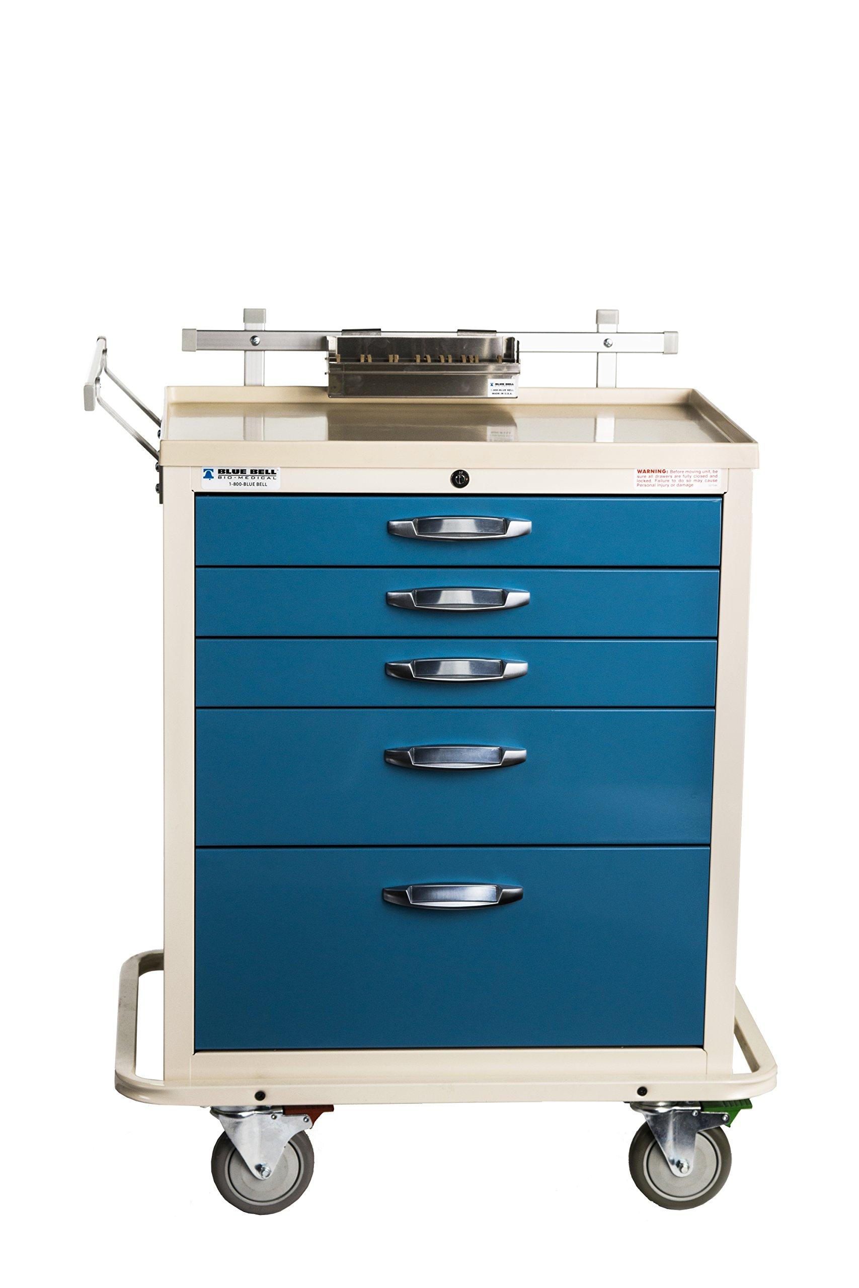 Blue Bell Medical 89001 BAC-24, Basic Anesthesia Cart, Key Lock (Pack of 7)