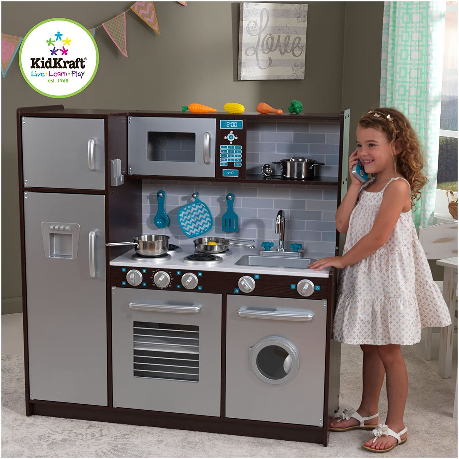 Incroyable Buy KidKraft Modern Midtown Espresso Kitchen Online At Low Prices In India    Amazon.in