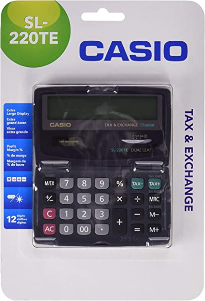 Casio SL-220TE - Calculadora básica, 65 x 120 x 141mm: Amazon.es: Oficina y papelería