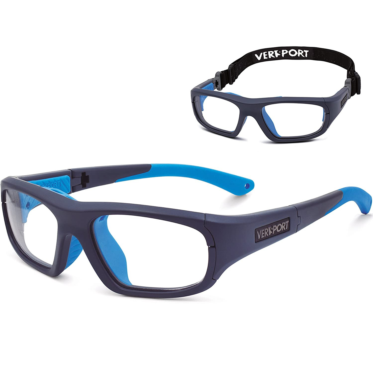 bf55c596278 Amazon.com  VERSPORT  ZEUS 56 Protective Sports Glasses - Matte Blue Blue