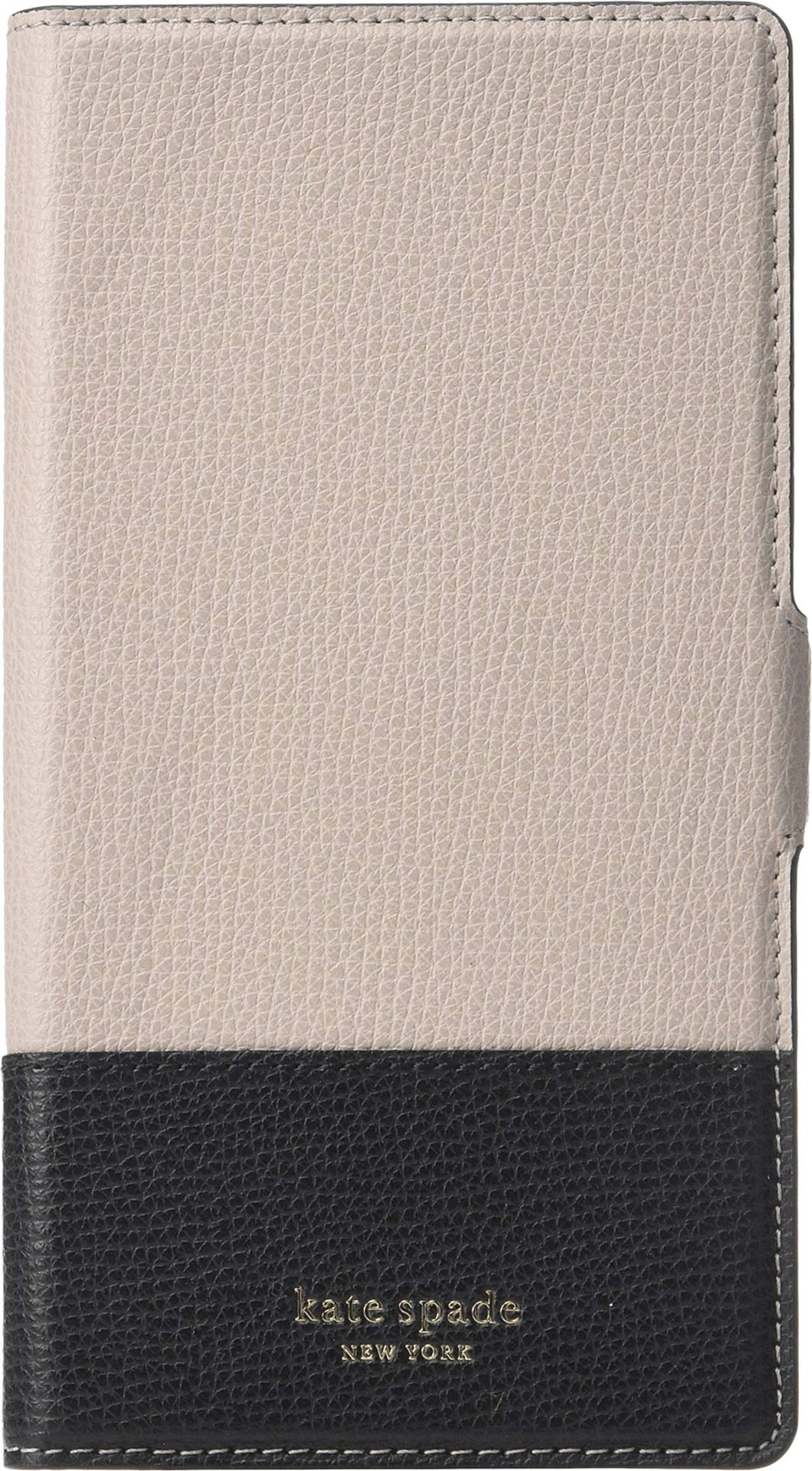 Kate Spade New York Women's Sylvia Magnetic Folio Phone Case for iPhone Xs Max Warm Taupe/Black One Size