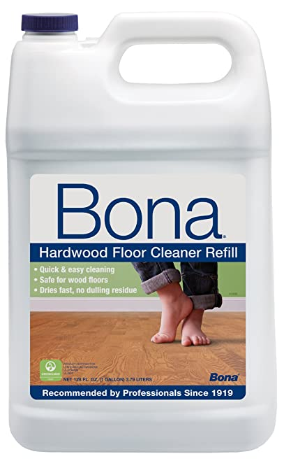 Bona Hardwood Floor Cleaner Refill, 128 oz, Clear