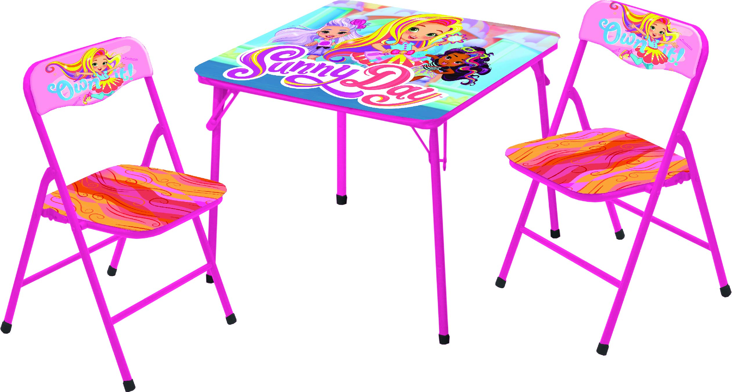 Nickelodeon Sunny Day 3 Pc Table & Chair Set, Multicolor by Nickelodeon