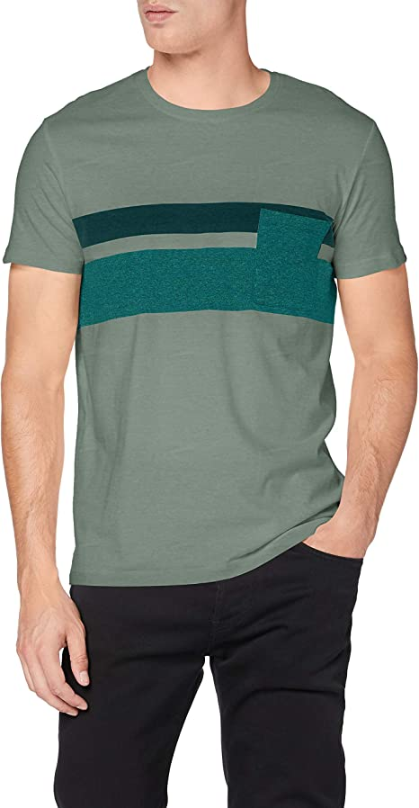 Esprit Colorblock Streifen Camiseta para Hombre