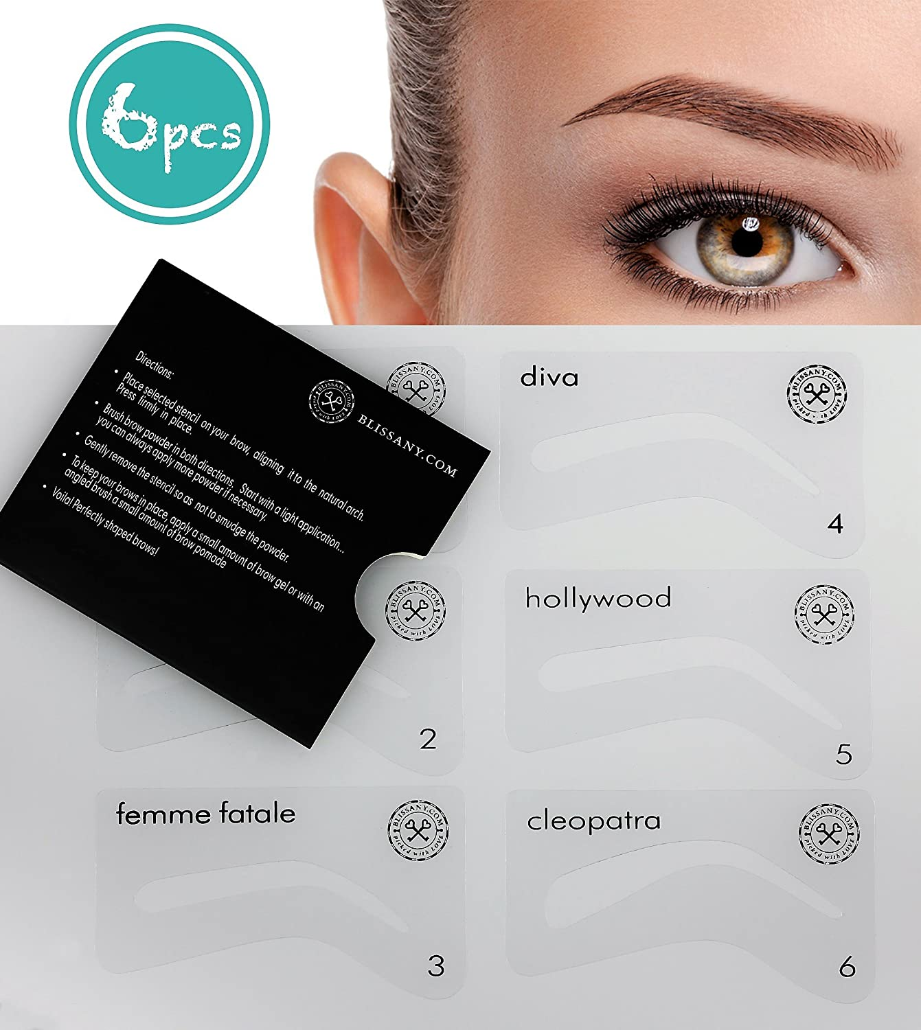 Amazon Eyebrow Stencil For Styling Perfectly Plucked And Even