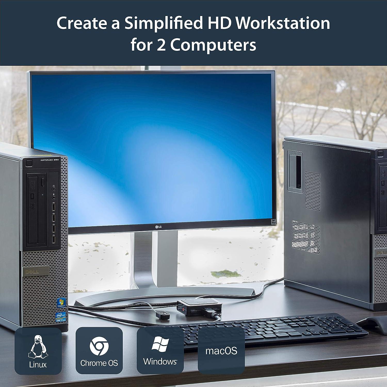 StarTech.com SV211USB - Switch conmutador KVM de 2 Puertos, 2 Puertos VGA, USB: Startech: Amazon.es: Informática