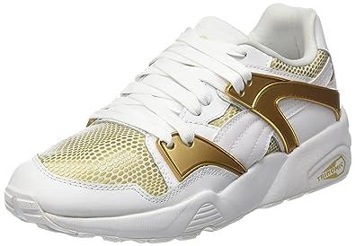 size 40 d5f2d 9f890 Puma Blaze Gold, Baskets Basses Femme, Blanc White), 36 EU