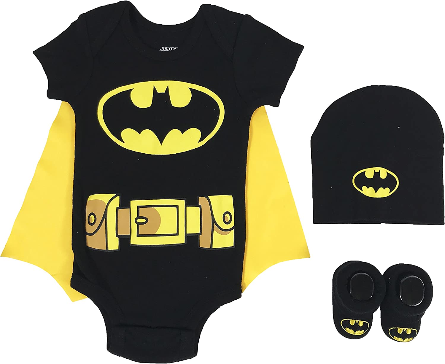 DC Comics Baby Boys Superman  Wonder Woman  Flash  Batman 3-pc Set in Gift Box Baby Costume